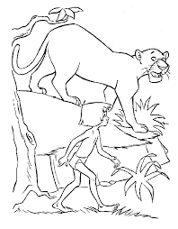 jungle book coloring pages coloring