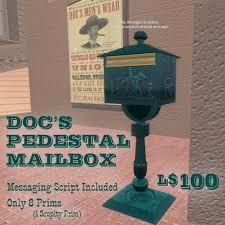 Pedestal Mailbox Second Life Marketplace Doc U0027s Pedestal Mailbox