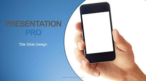 mobile phone powerpoint template holding mobile phone widescreen