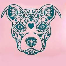 sugar skull pitbull tattoo design