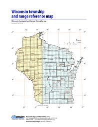Map Wisconsin Wisconsin Geological U0026 Natural History Survey Wisconsin Township
