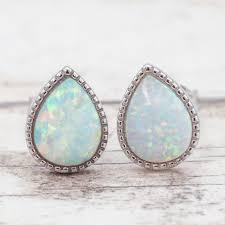 natural white opal white opal rain drop earrings bohemian gypsy jewels indie and