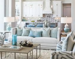 Beautiful U0026 Chic Coastal Living Room With A Cozy Shag Rug