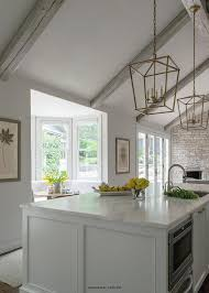 Lighting For Cathedral Ceiling In The Kitchen by Vaulted Ceiling Wood Beams Design Ideas