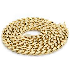 chain necklace hip hop images Mens 14k gold plated heavy thick cut hip hop chain 24 quot cuban jpg
