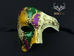 cool mardi gras masks men s phantom of the opera masquerade mardi gras mask masquerade