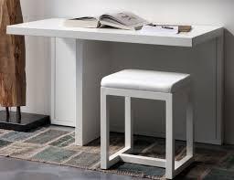 bureau 60 cm console atrium bureau métal l 120 x p 60 cm métal blanc zeus