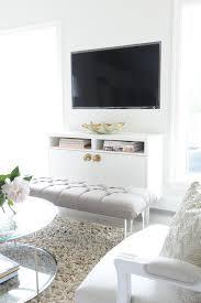 floating media cabinet transitional living room