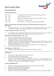 Environmental Science Resume Sample Resume Sample Nz Full Cv Example Free Resume Samples Resume