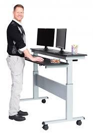 computer desk standing up amazon com 40 black shelves mobile