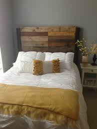 great captivating wood headboard queen distressed wood twin