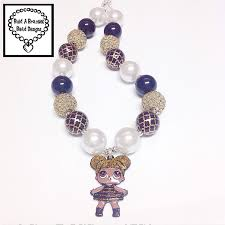 chunky jewelry necklace images Lol surprise doll queen bee necklace black gold trefoil white jpeg
