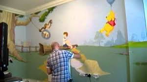 winnie the pooh bedroom mural wall 3 time lapse youtube