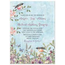 watercolor wedding invitations woodland forest wedding invitation watercolor birds butterflies