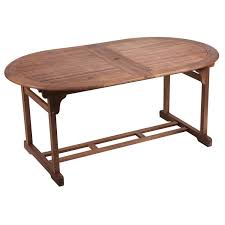hampton acacia oval 240cm extending table u2013 next day delivery