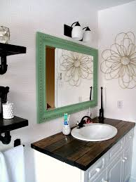 Budget Bathroom Ideas Rustic Wood Vanity Diy Wood Counter Top Bathroom Makeover