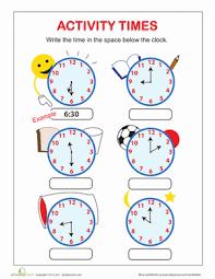 telling time worksheet education com