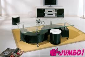 couchtisch wohnzimmer couchtisch wohnzimmer tisch glastisch und 2 hocker serena mdf