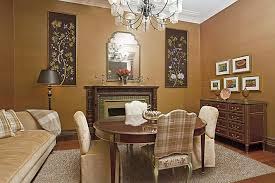 monochromatic brown apartment dining room palette color with