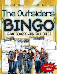 the outsiders bingo instructions game boards and call sheets
