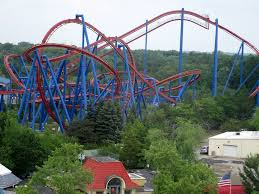 Six Flags Superman Ride Six Flags Great America From The Air Coaster101