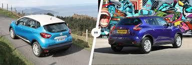 nissan juke vs toyota chr renault captur vs nissan juke crossover clash carwow