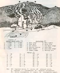 Mt Snow Trail Map 1962 63 Mount Snow Trail Map New England Ski Map Database