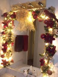 decorate a bathroom mirror amazing christmas bathroom decoration ideas