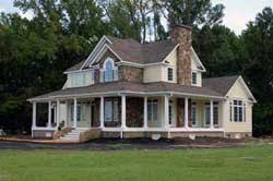 Country Farm House Country Home Designs Country Porch Plans Country Style Porches