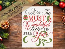 it u0027s the most wonderful time of the year svg christmas svg