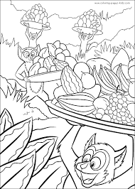 madagascar color coloring pages kids cartoon