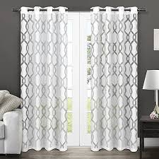 White Patterned Curtains White Pattern Curtains