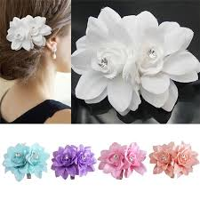 flower hair clip new arrivals fashion womens girl flower hair barrettes