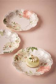 bridal shower plate paper floral cake plates corsage paper plates from bhldn