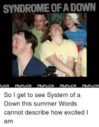 Syndrome Of A Down Meme - syndrome of a down oca mopoca mopoca mopoca mopoca so i get to see