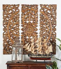 3 panel wood wall one allium way 3 wood panel wall décor set reviews wayfair