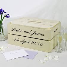 wedding photo box personalised wedding post box crate by plantabox