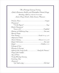 wedding church program template 10 wedding program templates free sle exle format