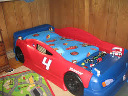 Blue Car Bed Red And Blue Convertible Car Beds For Toddlers With Mattress In