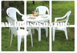White Resin Patio Table White Patio Table With Umbrella Patio Furniture