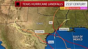 Mexico Hurricane Map Harvey Is The First Texas Hurricane Landfall Since Ike Nearly 9