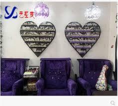 european type iron art nail polish shelf nail salon cosmetics wall