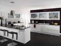 kitchen two toned kitchen colors with dark hardwood flooring and