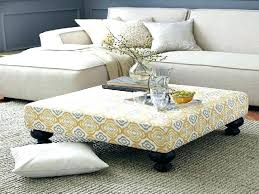 Padded Ottoman Upholstered Coffee Table Coffee Square Storage Ottoman Coffee