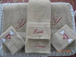 wedding gift towels weddings willow tree embroidery