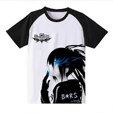 black rock shooter anime black rock shooter brs short sleeves tee t shirt amazon com