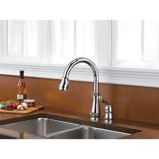 leland single handle pulldown kitchen faucet chrome 978 dst pic