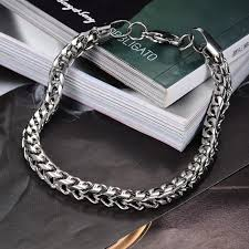 man chain bracelet images Summer style hand chain man stainless steel snake bracelet men jpg