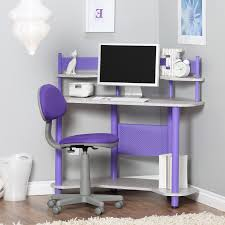 Purple Computer Desk by Furniture Purple White And Black Leather Desk Chair With Tall