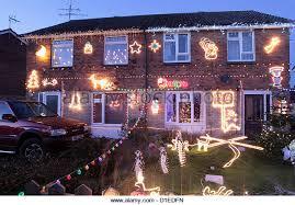 christmas lights house uk stock photos u0026 christmas lights house uk